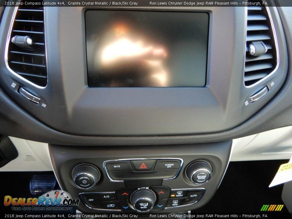 2018 Jeep Compass Latitude 4x4 Granite Crystal Metallic / Black/Ski Gray Photo #20