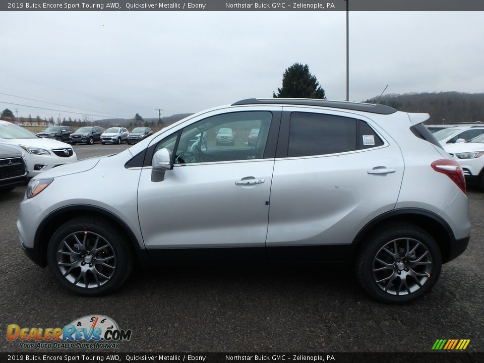 2019 Buick Encore Sport Touring AWD Quicksilver Metallic / Ebony Photo #9