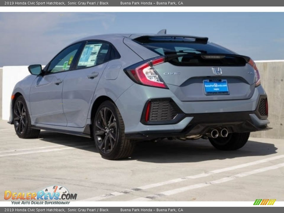 2019 Honda Civic Sport Hatchback Sonic Gray Pearl / Black Photo #2