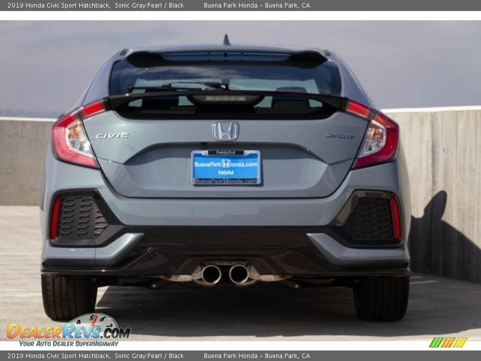 2019 Honda Civic Sport Hatchback Sonic Gray Pearl / Black Photo #6