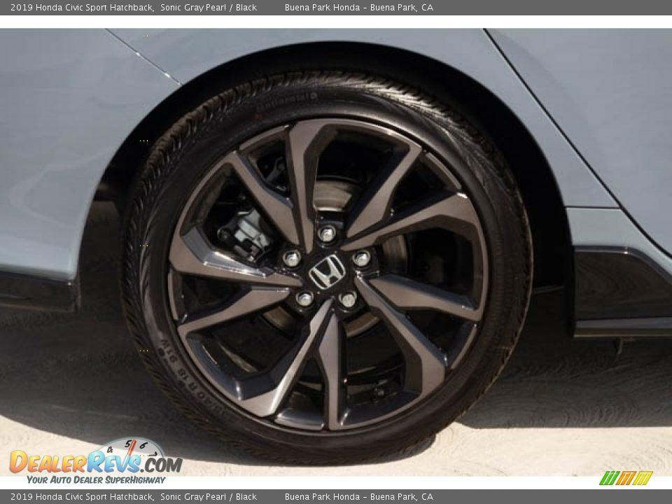 2019 Honda Civic Sport Hatchback Sonic Gray Pearl / Black Photo #11