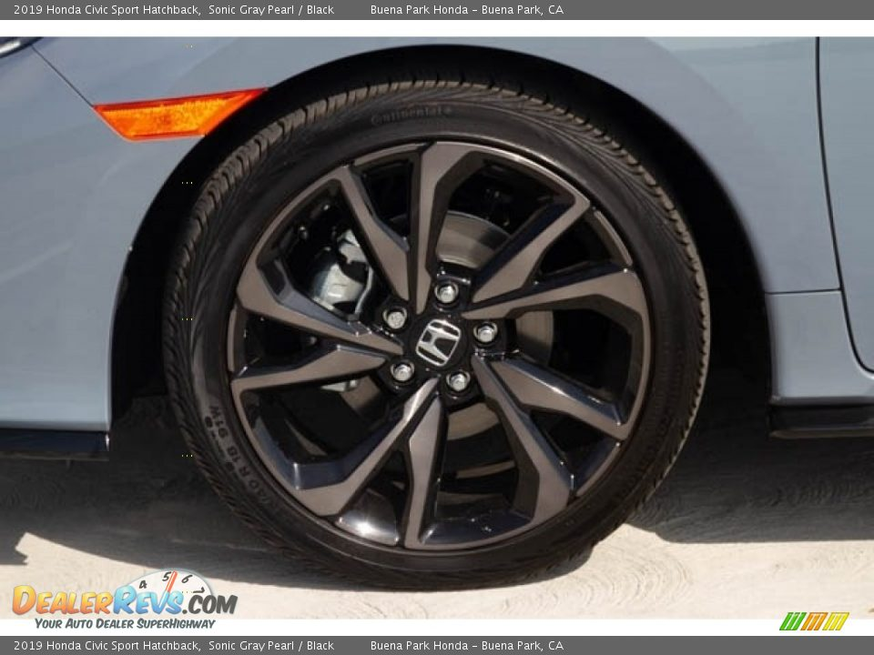 2019 Honda Civic Sport Hatchback Sonic Gray Pearl / Black Photo #13