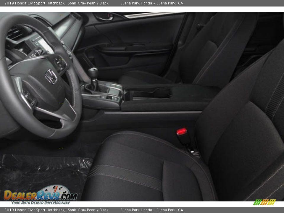 2019 Honda Civic Sport Hatchback Sonic Gray Pearl / Black Photo #16