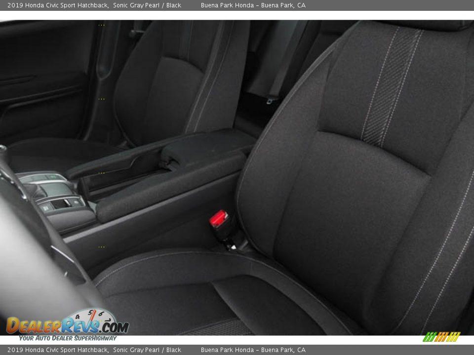 2019 Honda Civic Sport Hatchback Sonic Gray Pearl / Black Photo #23