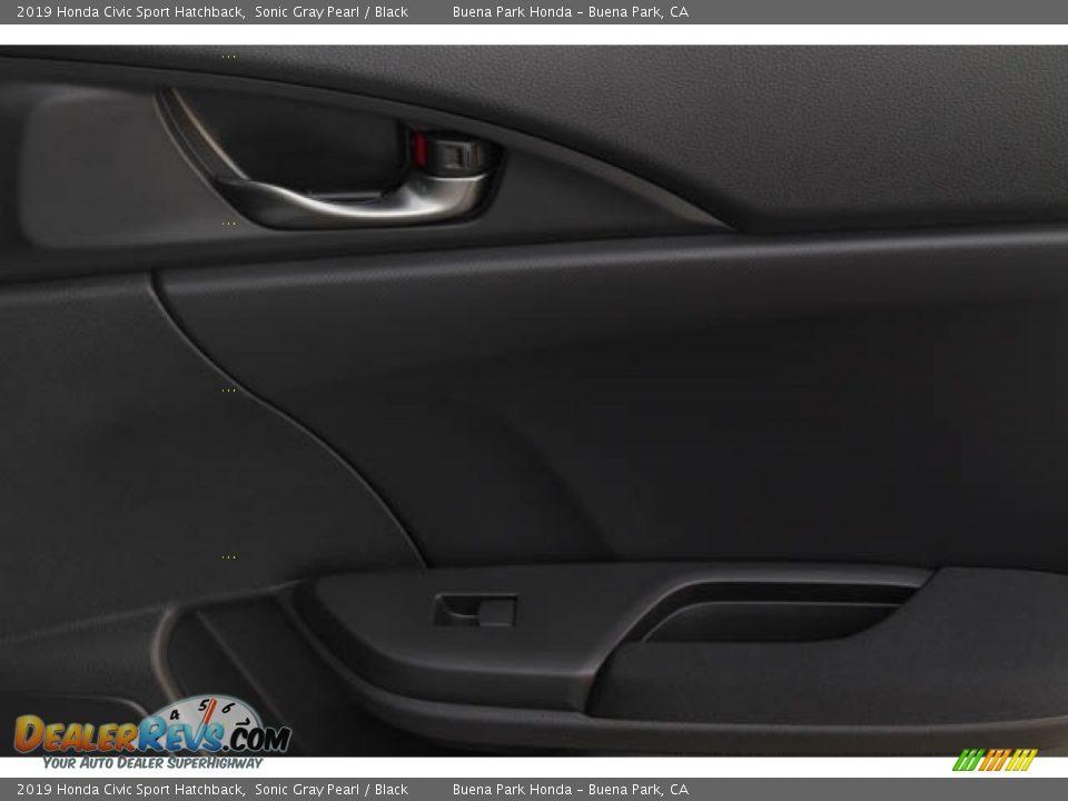 2019 Honda Civic Sport Hatchback Sonic Gray Pearl / Black Photo #35