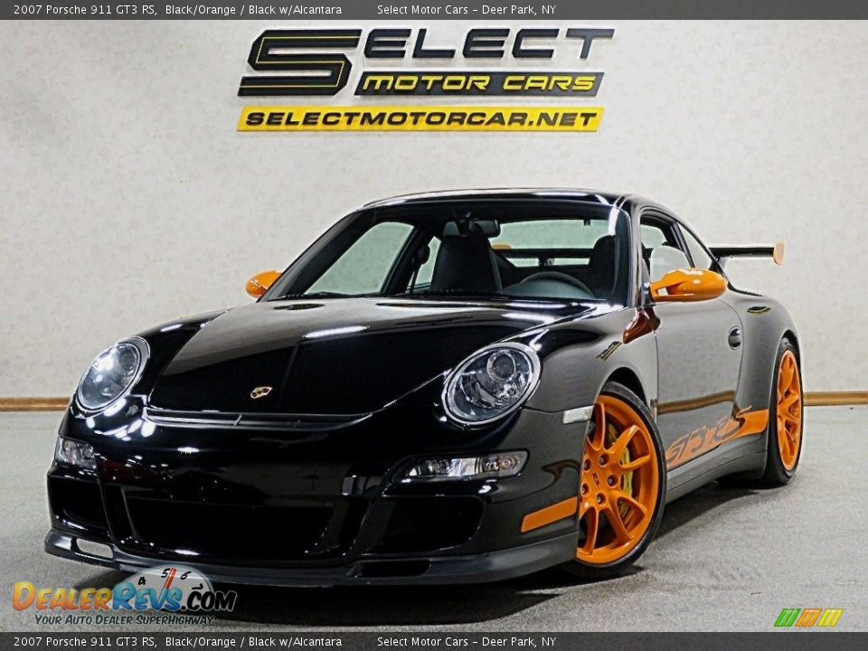 2007 Porsche 911 GT3 RS Black/Orange / Black w/Alcantara Photo #1