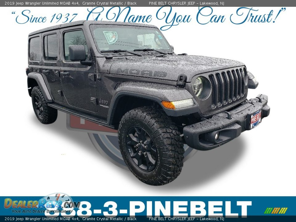 2019 Jeep Wrangler Unlimited MOAB 4x4 Granite Crystal Metallic / Black Photo #1