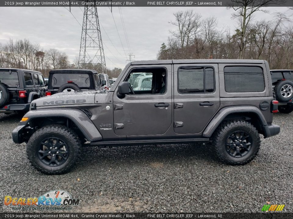Granite Crystal Metallic 2019 Jeep Wrangler Unlimited MOAB 4x4 Photo #3