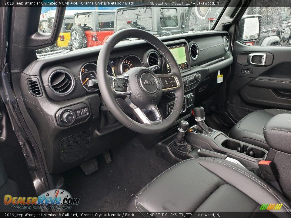 Black Interior - 2019 Jeep Wrangler Unlimited MOAB 4x4 Photo #7