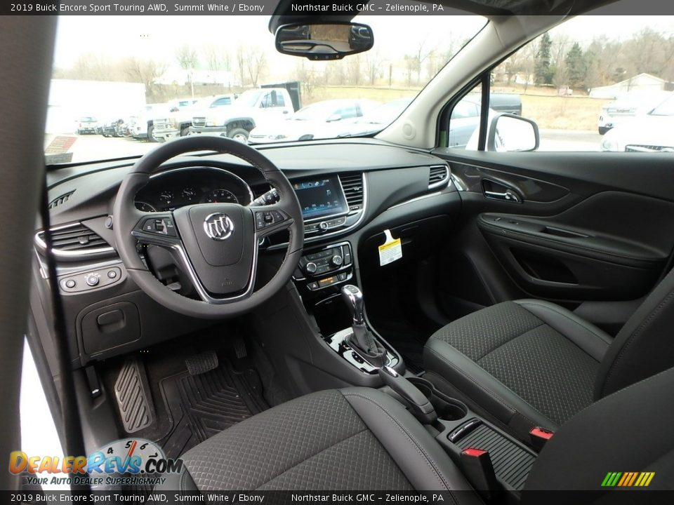 Ebony Interior - 2019 Buick Encore Sport Touring AWD Photo #13
