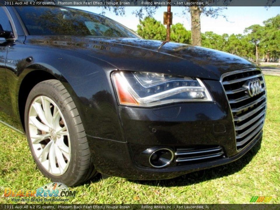 2011 Audi A8 4.2 FSI quattro Phantom Black Pearl Effect / Nougat Brown Photo #19