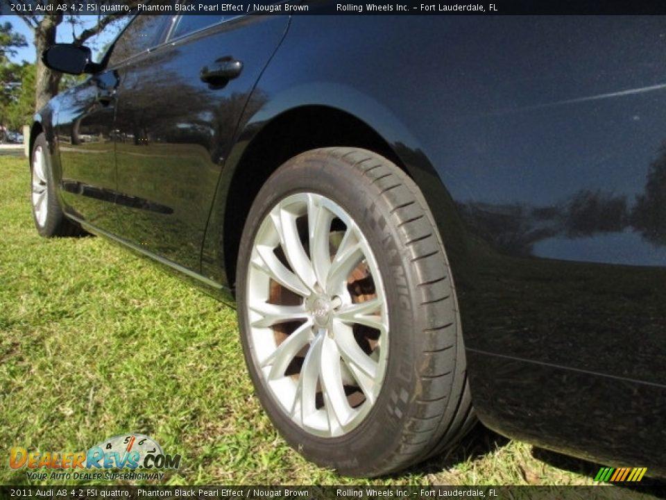 2011 Audi A8 4.2 FSI quattro Phantom Black Pearl Effect / Nougat Brown Photo #21