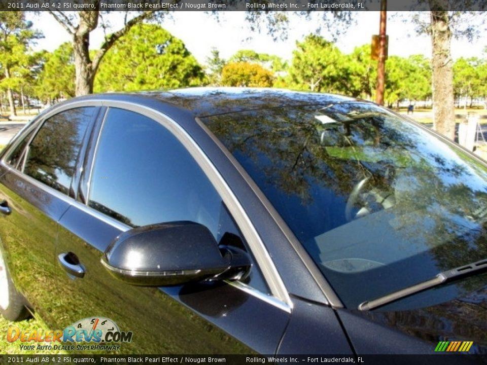 2011 Audi A8 4.2 FSI quattro Phantom Black Pearl Effect / Nougat Brown Photo #23