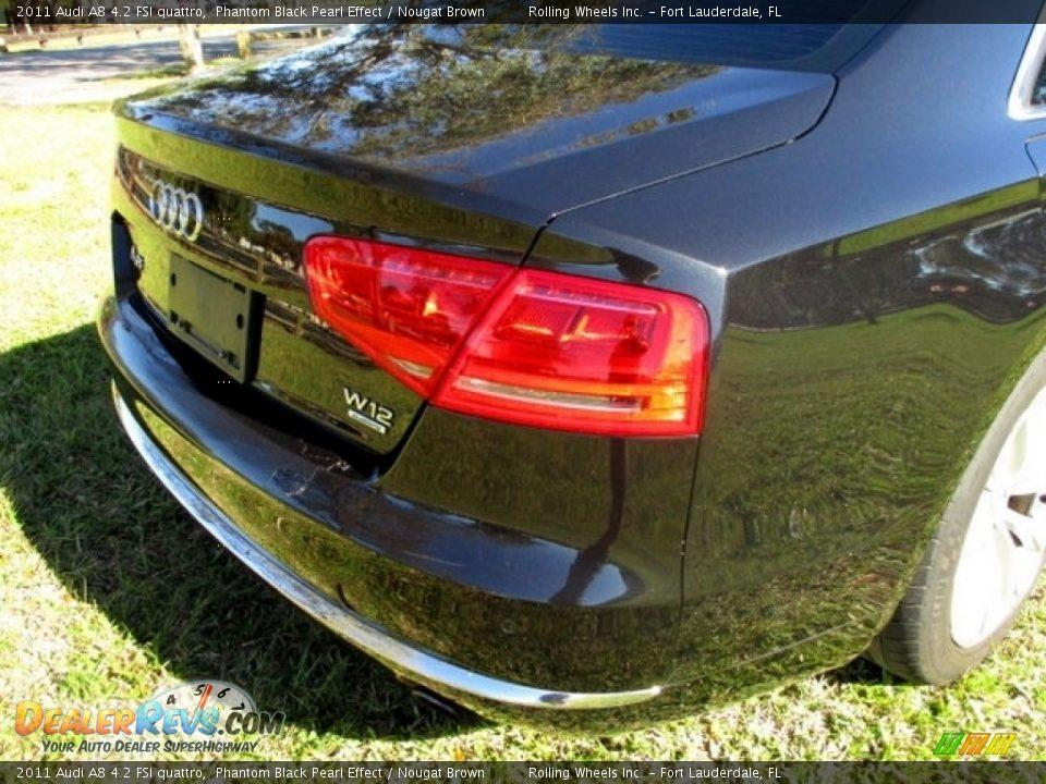 2011 Audi A8 4.2 FSI quattro Phantom Black Pearl Effect / Nougat Brown Photo #26