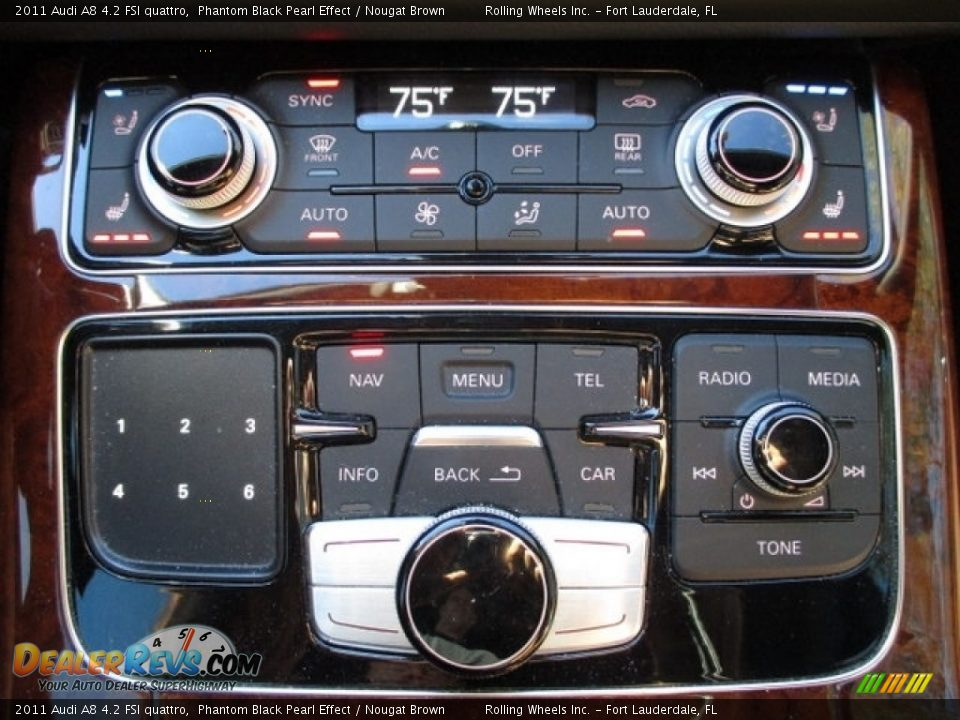2011 Audi A8 4.2 FSI quattro Phantom Black Pearl Effect / Nougat Brown Photo #27