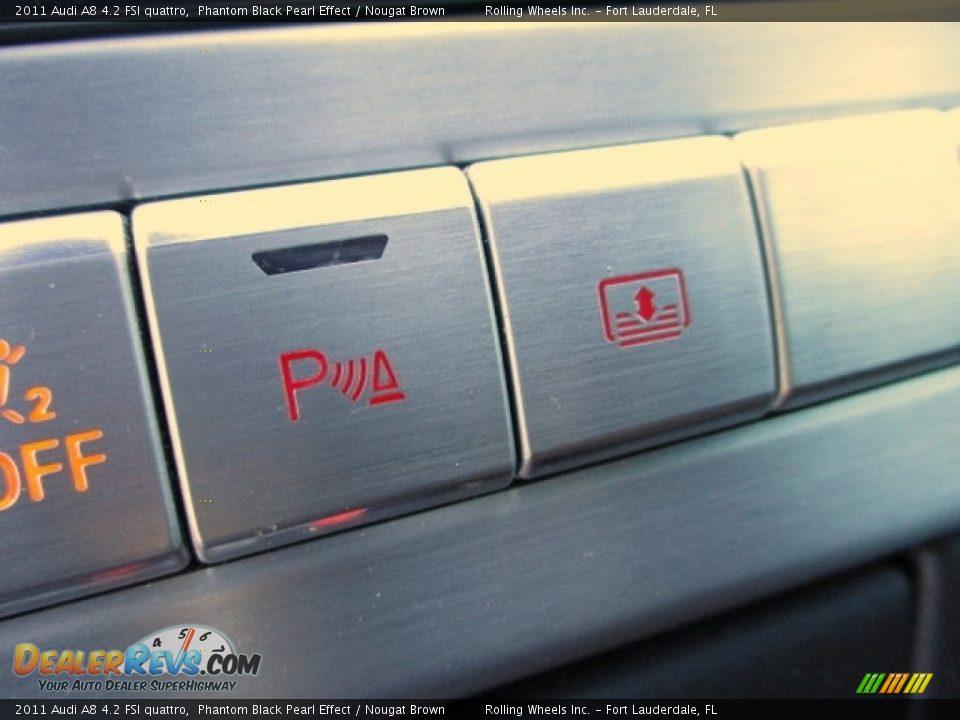 2011 Audi A8 4.2 FSI quattro Phantom Black Pearl Effect / Nougat Brown Photo #34