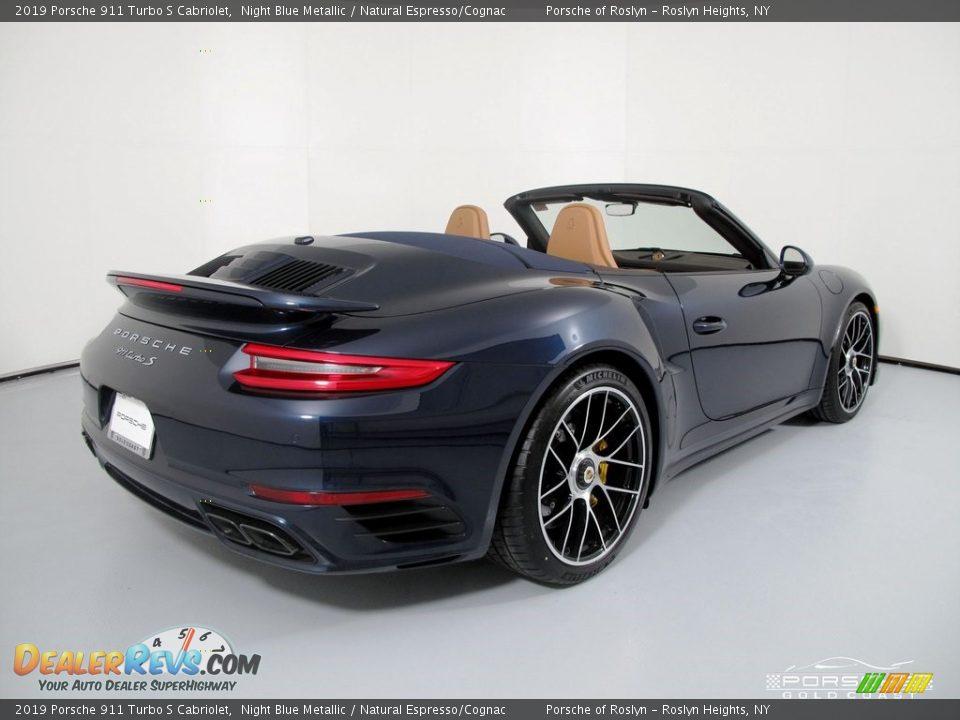 2019 Porsche 911 Turbo S Cabriolet Night Blue Metallic / Natural Espresso/Cognac Photo #7