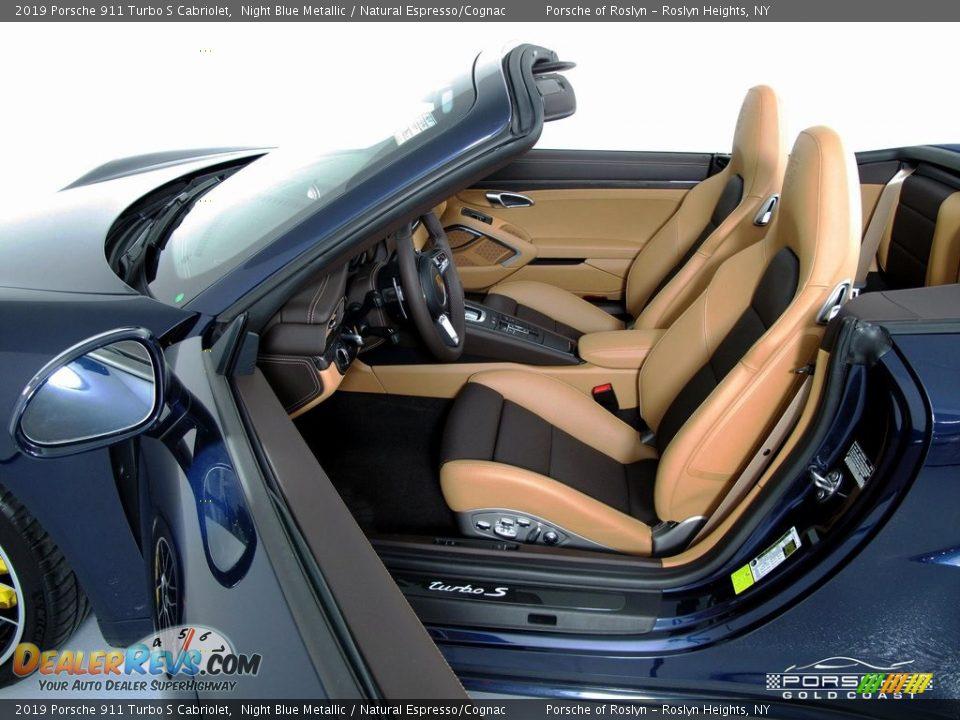 2019 Porsche 911 Turbo S Cabriolet Night Blue Metallic / Natural Espresso/Cognac Photo #15