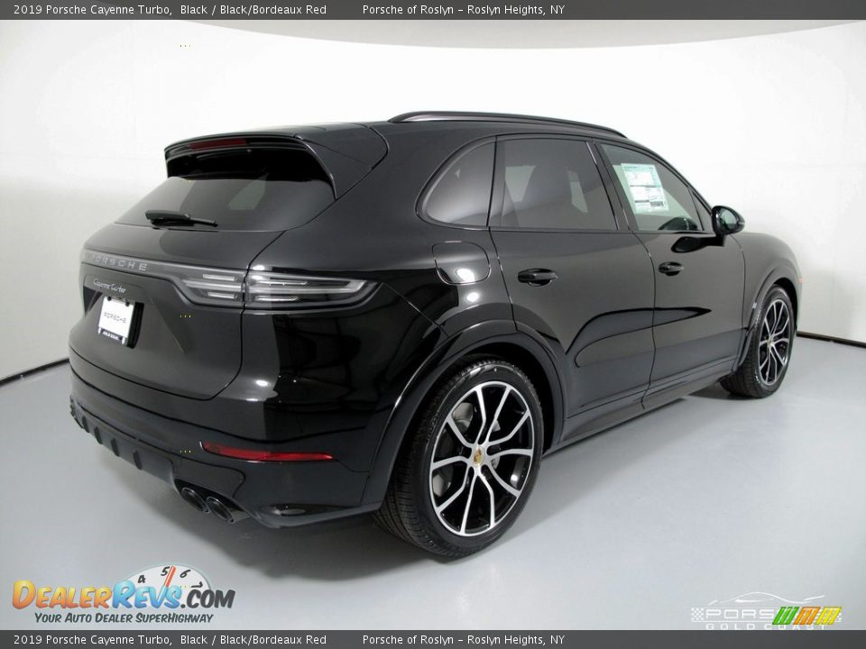 2019 Porsche Cayenne Turbo Black / Black/Bordeaux Red Photo #7