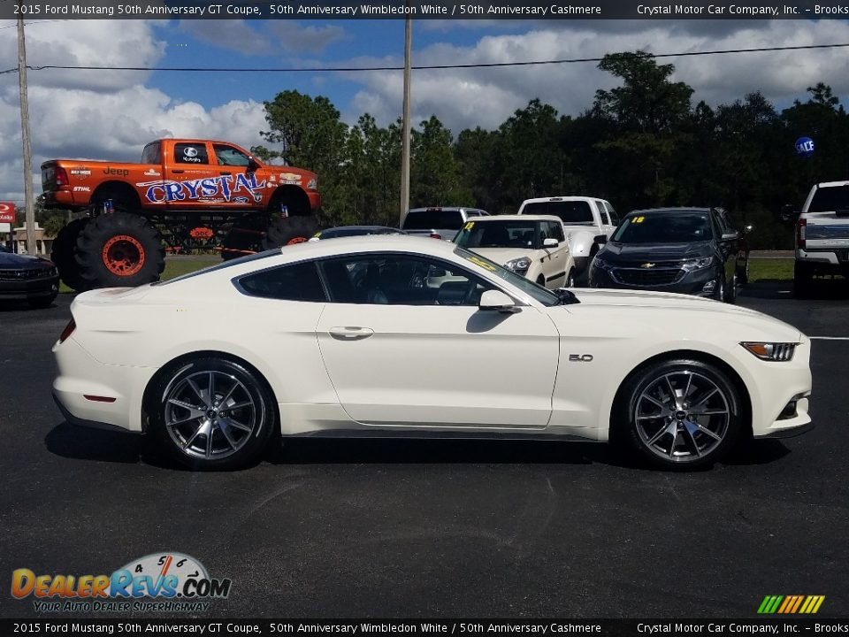 2015 Ford Mustang 50th Anniversary GT Coupe 50th Anniversary Wimbledon White / 50th Anniversary Cashmere Photo #6