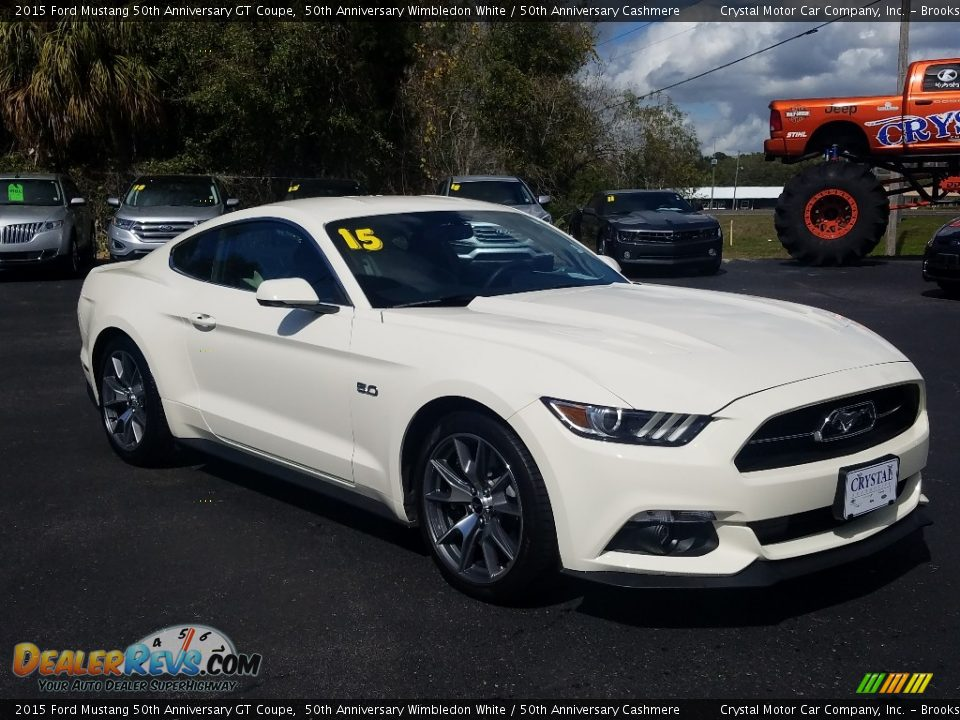 2015 Ford Mustang 50th Anniversary GT Coupe 50th Anniversary Wimbledon White / 50th Anniversary Cashmere Photo #7