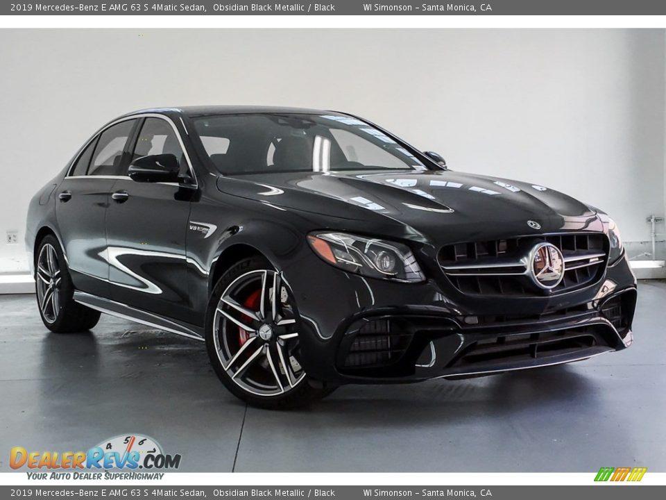 2019 Mercedes-Benz E AMG 63 S 4Matic Sedan Obsidian Black Metallic / Black Photo #12