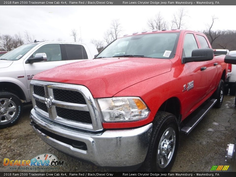 2018 Ram 2500 Tradesman Crew Cab 4x4 Flame Red / Black/Diesel Gray Photo #1