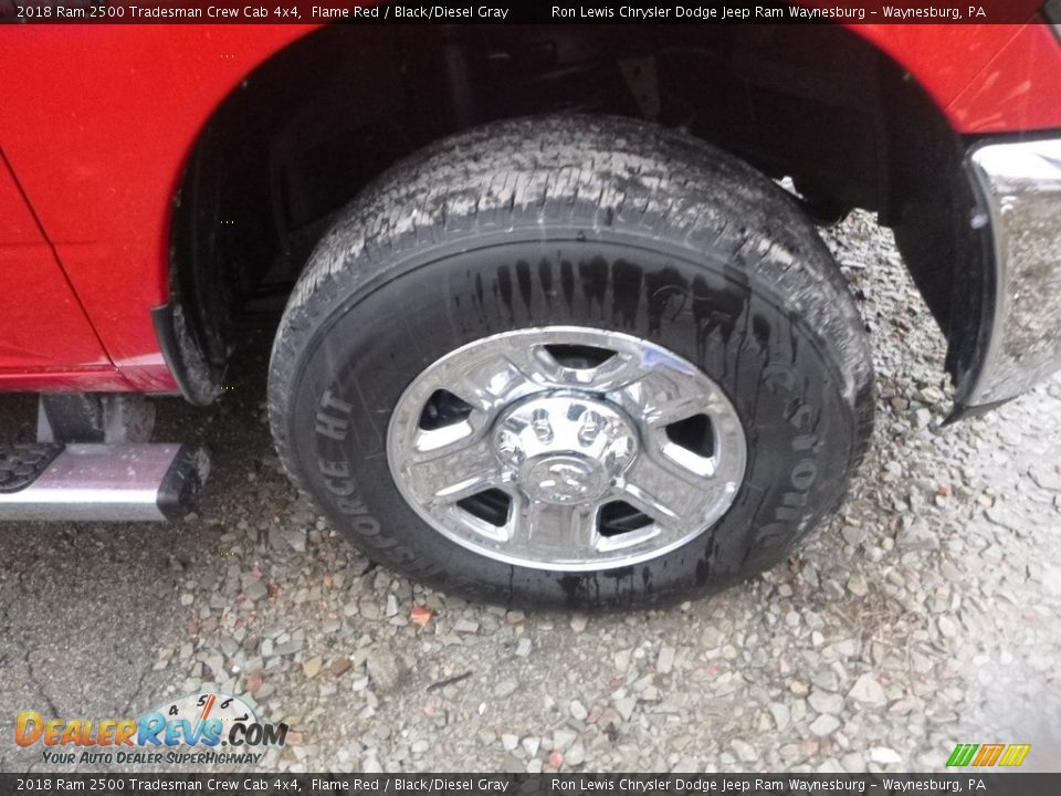 2018 Ram 2500 Tradesman Crew Cab 4x4 Flame Red / Black/Diesel Gray Photo #4