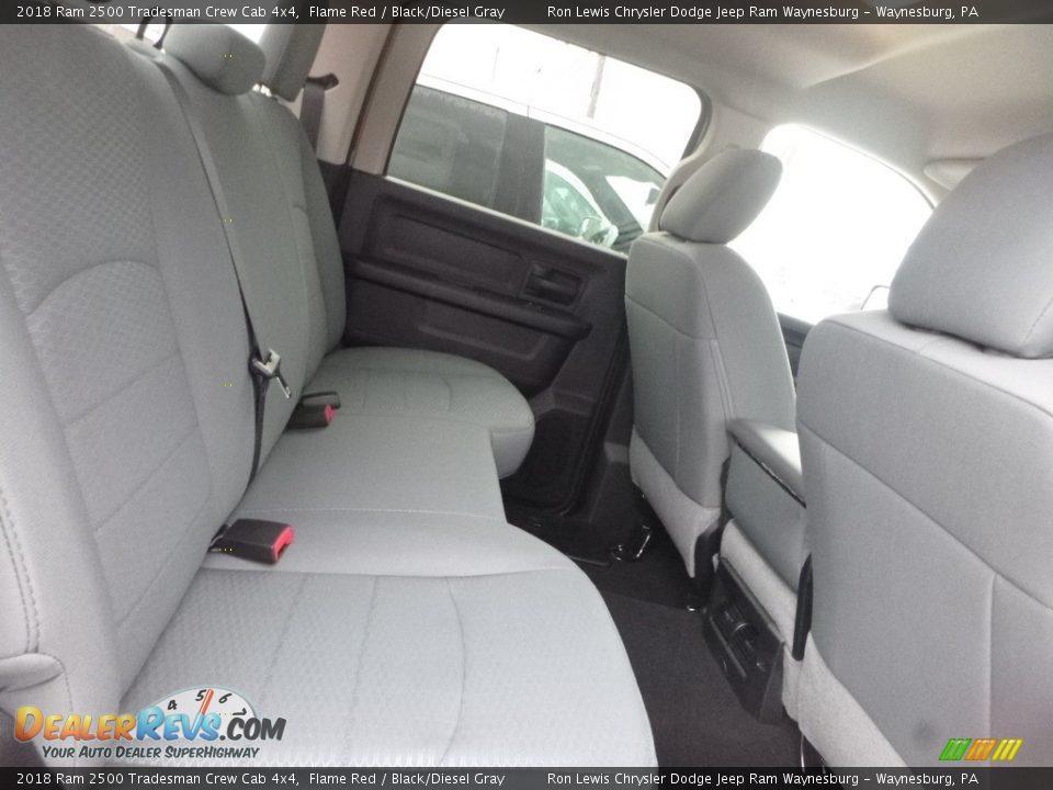 2018 Ram 2500 Tradesman Crew Cab 4x4 Flame Red / Black/Diesel Gray Photo #8