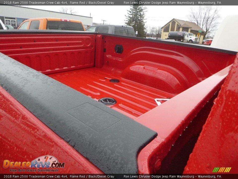 2018 Ram 2500 Tradesman Crew Cab 4x4 Flame Red / Black/Diesel Gray Photo #9