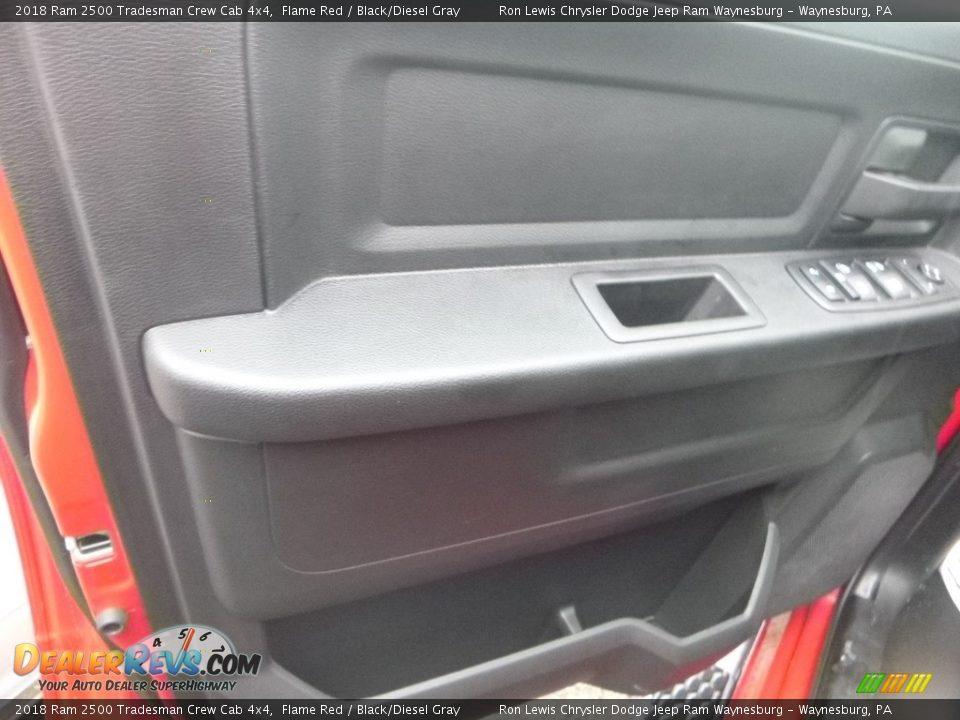 2018 Ram 2500 Tradesman Crew Cab 4x4 Flame Red / Black/Diesel Gray Photo #11