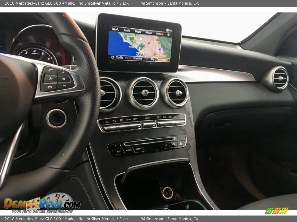 2018 Mercedes-Benz GLC 300 4Matic Iridium Silver Metallic / Black Photo #6