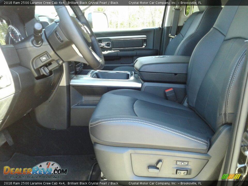 2018 Ram 2500 Laramie Crew Cab 4x4 Brilliant Black Crystal Pearl / Black Photo #9