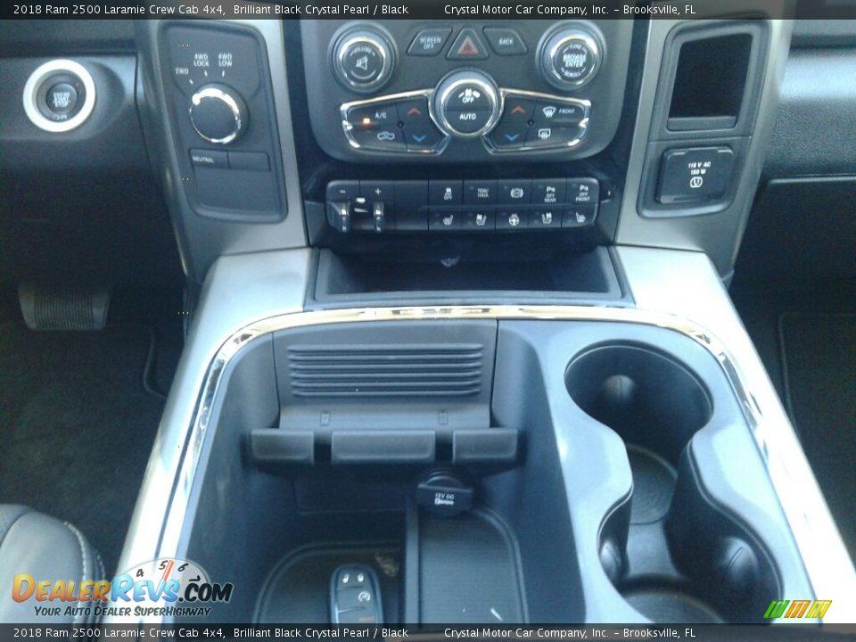 2018 Ram 2500 Laramie Crew Cab 4x4 Brilliant Black Crystal Pearl / Black Photo #16