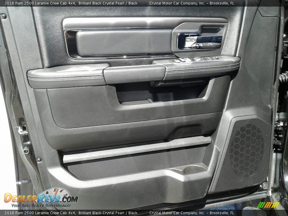 2018 Ram 2500 Laramie Crew Cab 4x4 Brilliant Black Crystal Pearl / Black Photo #17