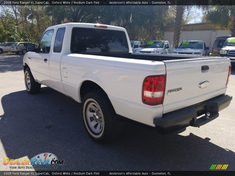 2008 Ford Ranger XL SuperCab Oxford White / Medium Dark Flint Photo #6