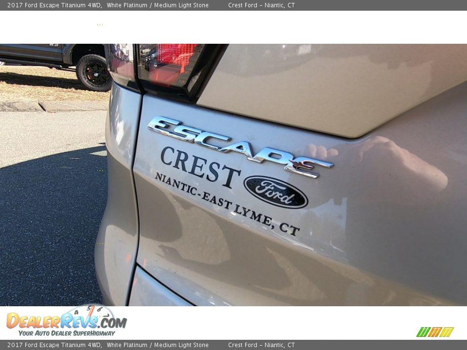 2017 Ford Escape Titanium 4WD White Platinum / Medium Light Stone Photo #10