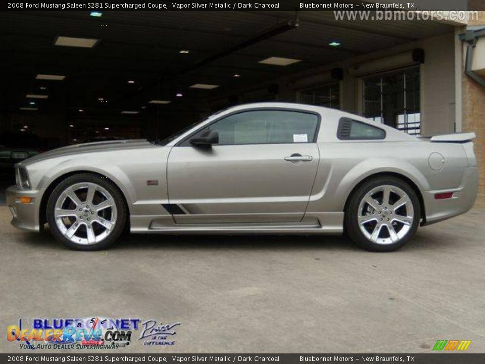 2008 ford mustang saleen s281 supercharged coupe vapor silver metallic dark charcoal photo 4. Black Bedroom Furniture Sets. Home Design Ideas