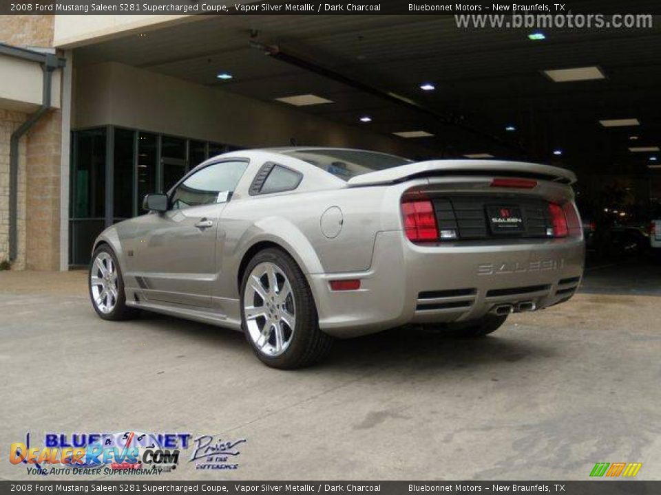 2008 ford mustang saleen s281 supercharged coupe vapor silver metallic dark charcoal photo 5. Black Bedroom Furniture Sets. Home Design Ideas