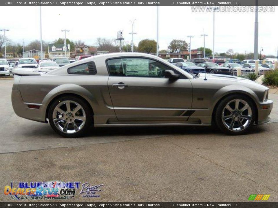 2008 ford mustang saleen s281 supercharged coupe vapor silver metallic dark charcoal photo 10. Black Bedroom Furniture Sets. Home Design Ideas