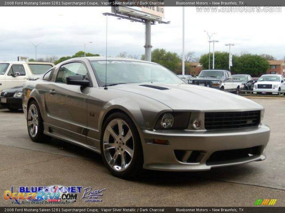 2008 ford mustang saleen s281 supercharged coupe vapor silver metallic dark charcoal photo 11. Black Bedroom Furniture Sets. Home Design Ideas