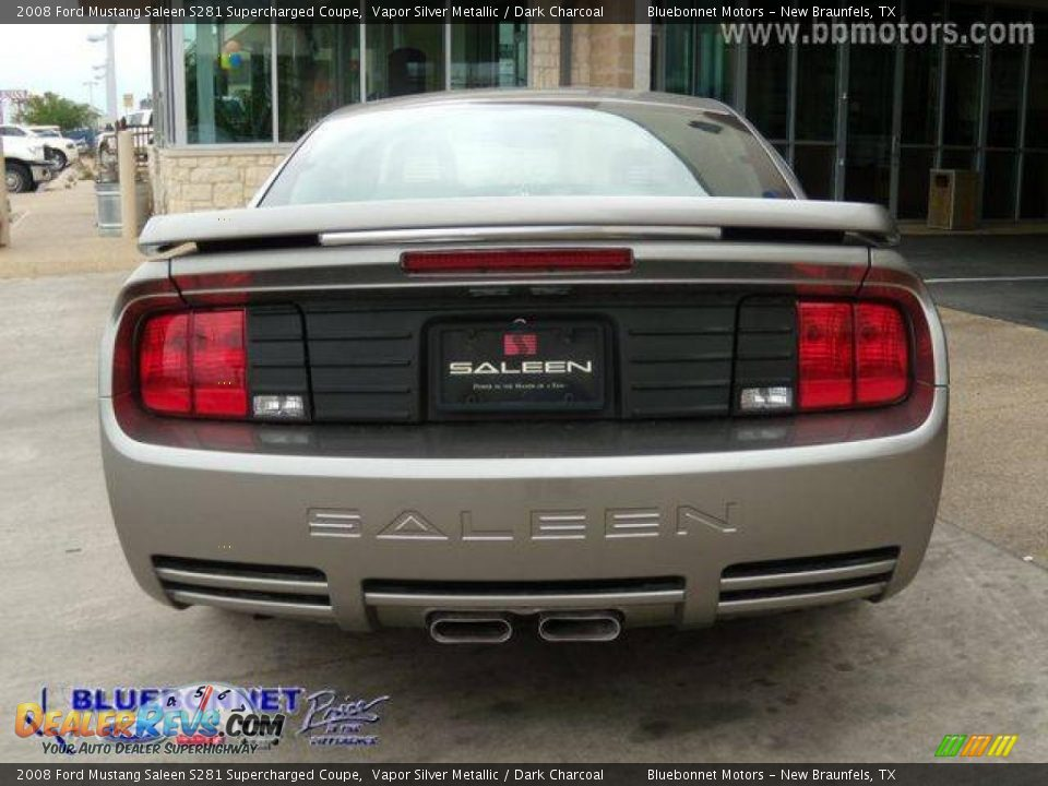 2008 ford mustang saleen s281 supercharged coupe vapor silver metallic dark charcoal photo 15. Black Bedroom Furniture Sets. Home Design Ideas