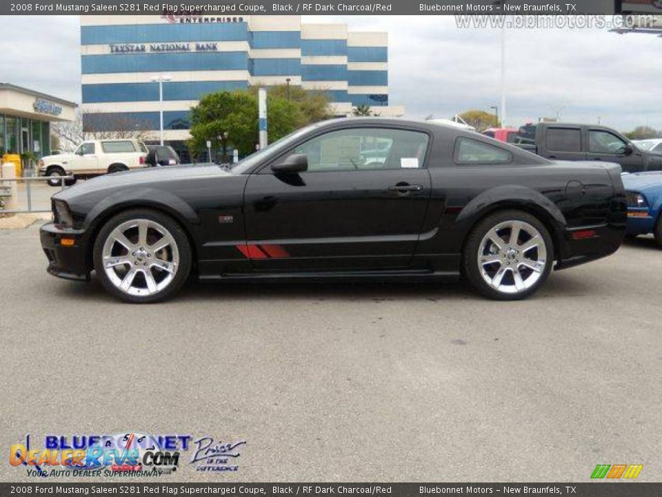 2008 ford mustang saleen s281 red flag supercharged coupe black rf dark charcoal red photo 4. Black Bedroom Furniture Sets. Home Design Ideas