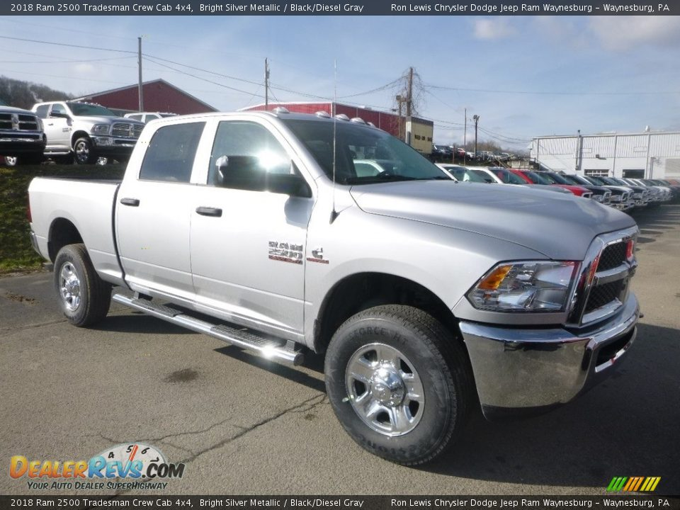 2018 Ram 2500 Tradesman Crew Cab 4x4 Bright Silver Metallic / Black/Diesel Gray Photo #6