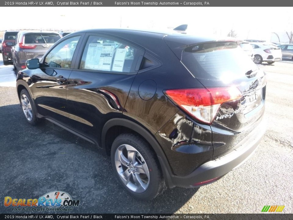 2019 Honda HR-V LX AWD Crystal Black Pearl / Black Photo #2