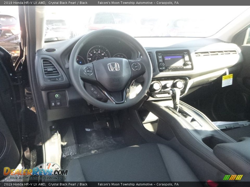 2019 Honda HR-V LX AWD Crystal Black Pearl / Black Photo #11