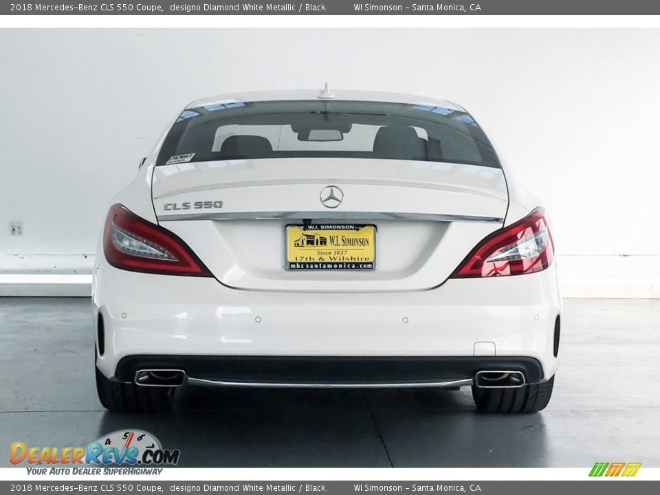 2018 Mercedes-Benz CLS 550 Coupe designo Diamond White Metallic / Black Photo #3