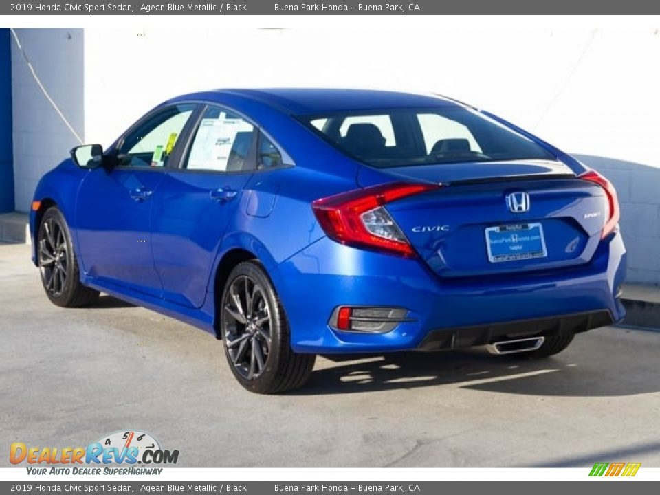 2019 Honda Civic Sport Sedan Agean Blue Metallic / Black Photo #2