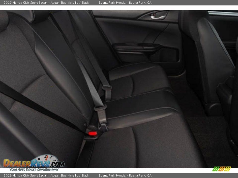 2019 Honda Civic Sport Sedan Agean Blue Metallic / Black Photo #28