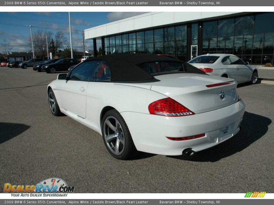 2009 bmw 6 series 650i convertible alpine white saddle. Black Bedroom Furniture Sets. Home Design Ideas